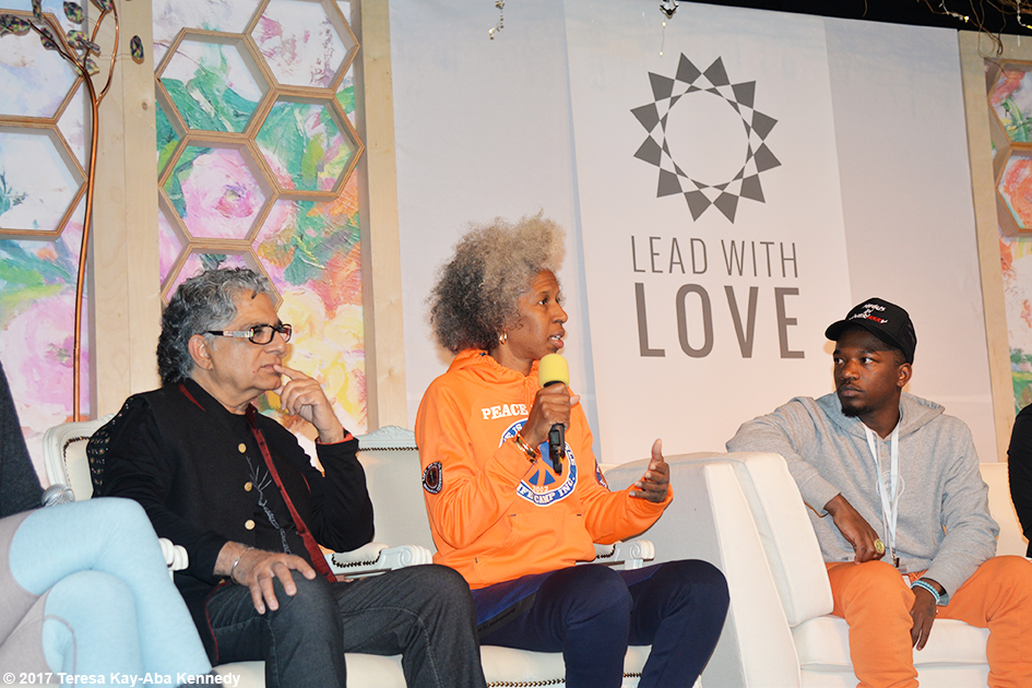 Dr. Deepak Chopra, Erica Ford and the Urban Yogis speaking at Lead With Love Conference in Aspen, Colorado – October 27, 2017