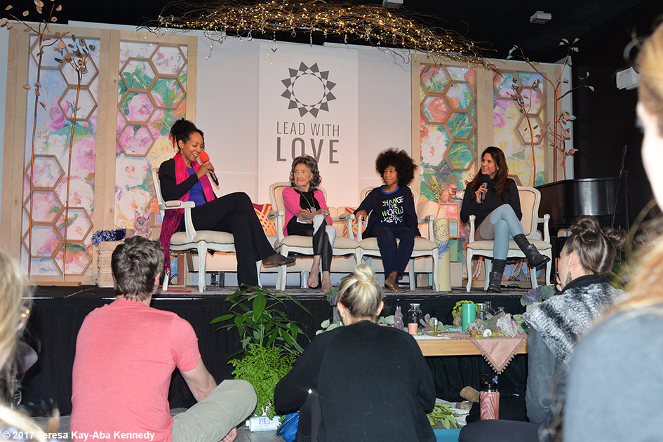 Teresa Kay-Aba Kennedy, Tao Porchon-Lynch, Tabay Atkins and Gina Murdock at Lead With Love Conference in Aspen, Colorado – October 27, 2017
