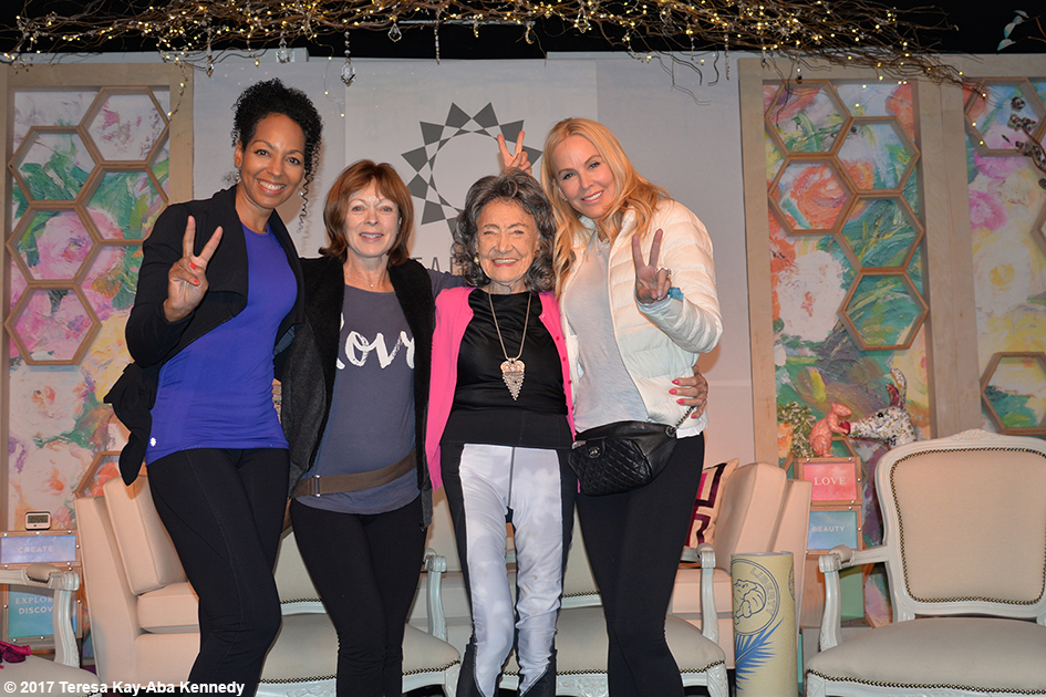 Teresa Kay-Aba Kennedy, Frances Fisher, Tao Porchon-Lynch, Eloise DeJoria at Lead With Love Conference in Aspen, Colorado – October 27, 2017