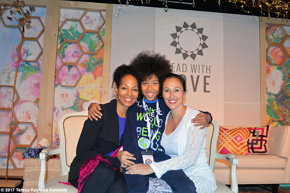 Teresa Kay-Aba Kennedy, Tabay Atkins and Sahel Anvarinejad at Lead With Love Conference in Aspen, Colorado – October 27, 2017