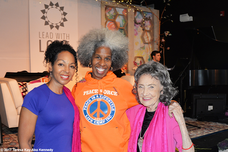 Teresa Kay-Aba Kennedy, Erica Ford and Tao Porchon-Lynch at Lead With Love Conference in Aspen, Colorado – October 27, 2017