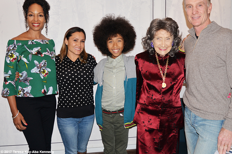 Teresa Kay-Aba Kennedy, Tabay Atkins, 99-year-old yoga master Tao Porchon-Lynch and friends at Lead With Love Conference in Aspen, Colorado – October 27, 2017