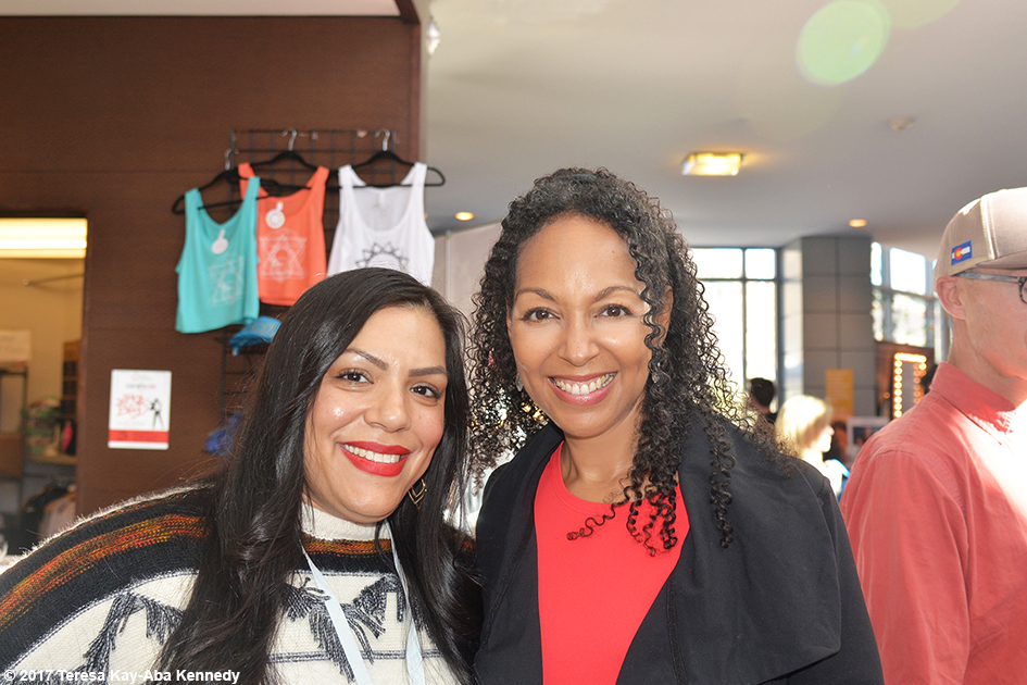 Stephanie Alvarez and Teresa Kay-Aba Kennedy at Lead With Love Conference in Aspen, Colorado – October 28, 2017