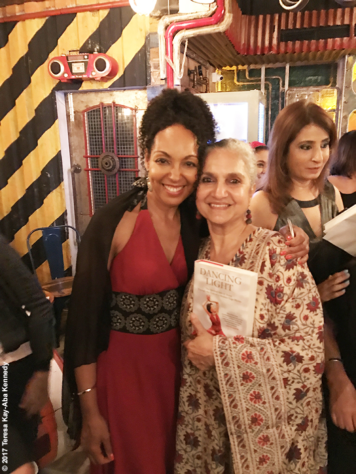 Teresa Kay-Aba Kennedy and Salome Roy Kapur at Tao Porchon-Lynch's World Book of Records celebration at the Junkyard Cafe in Mumbai, India - June 27, 2017