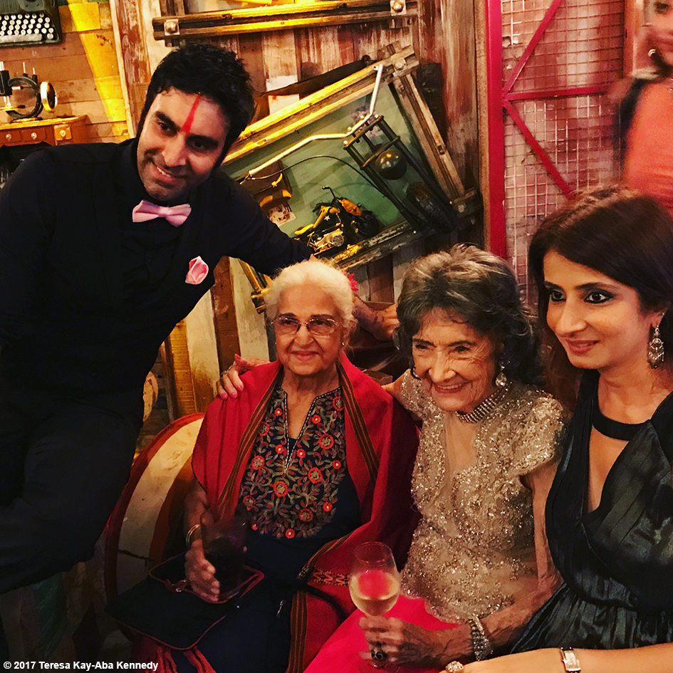 Sandip Soparrkar, Kamini Kaushal and 98-year-old Tao Porchon-Lynch and others at Tao's World Book of Records celebration at the Junkyard Cafe in Mumbai, India - June 27, 2017