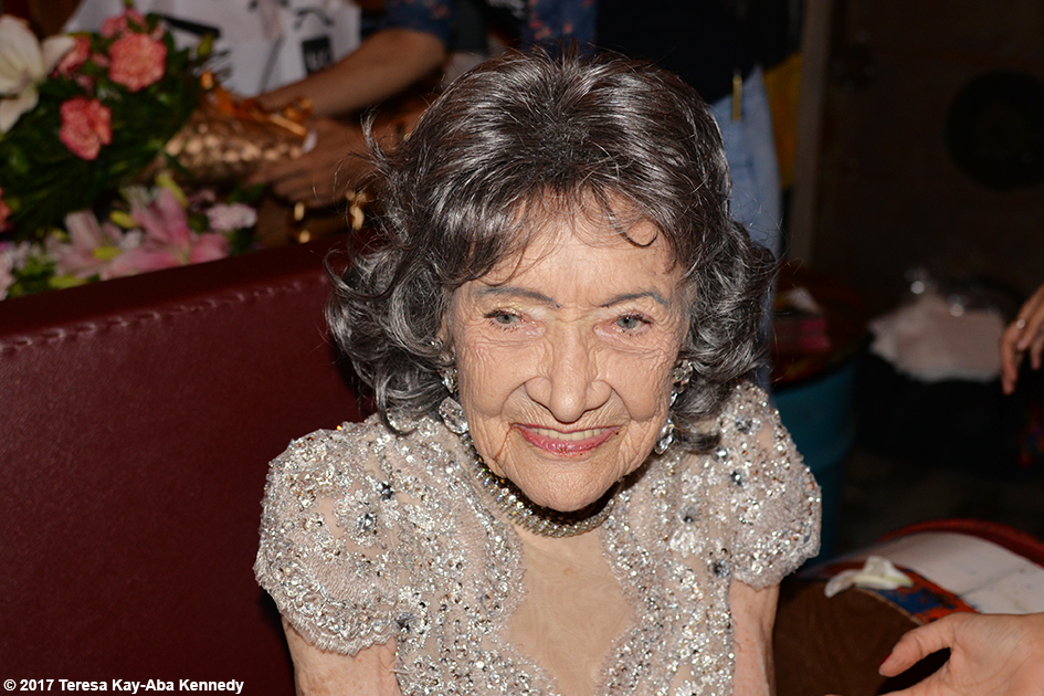 98-year-old Tao Porchon-Lynch at her World Book of Records celebration at Junkyard Cafe in Mumbai, India - June 27, 2017