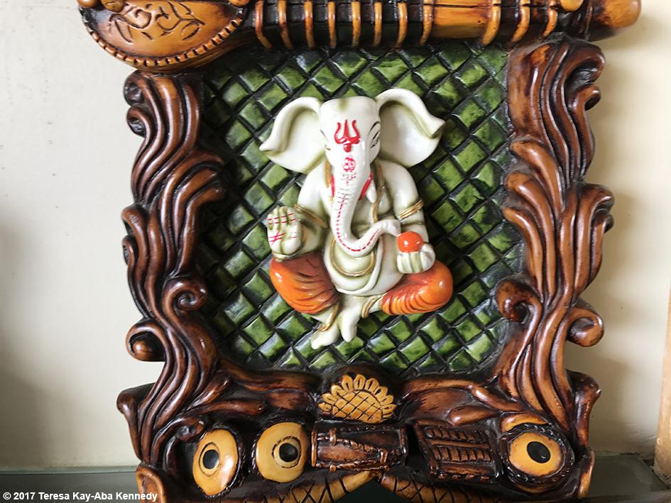 Ganesh at the home of dancer and choreographer Sandip Soparrkar in Mumbai, India - June 25, 2017